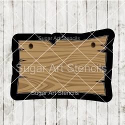Wood sign plaque cookie...