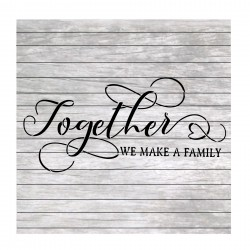 Family words quote painting...