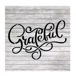 Grateful painting stencil...