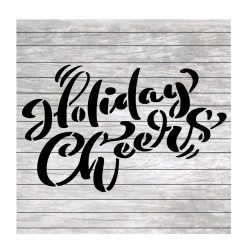 Holiday cheers words...