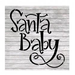 Christmas words Santa baby...