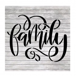 Family word hand lettered...