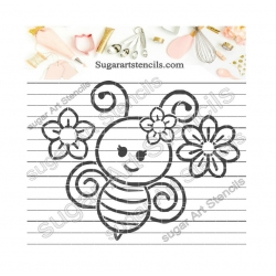 Bee PYO cookie Stencil...