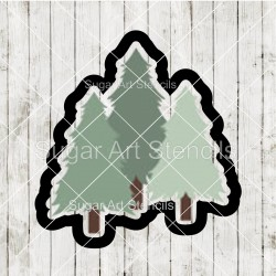 Pine trees cookie cutter CN49