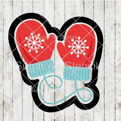 Mittens cookie cutter CN64