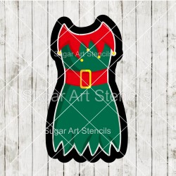 Elf dress cookie cutter CN61