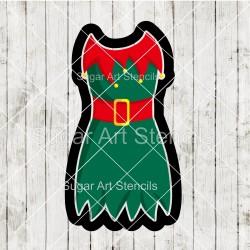 Elf dress cookie cutter CN61