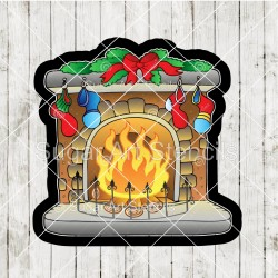 Christmas fireplace cookie...