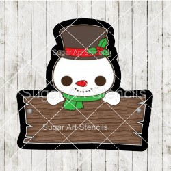 Snowman plaque cookie...