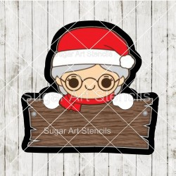 Mrs Claus plaque cookie...