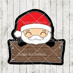 Santa Claus plaque cookie...