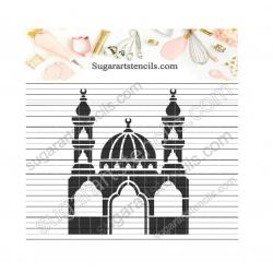 cookie stencil mosque...