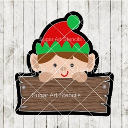 Elf plaque cookie cutter CN112