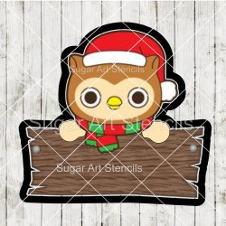 Christmas owl plaque cookie...