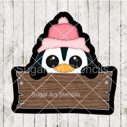 Penguin plaque cookie...