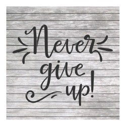 Never give up words...