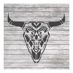 Bull skull tribal painting...