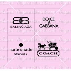 4 pcs Designers cake...