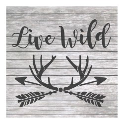 Live wild painting stencil...