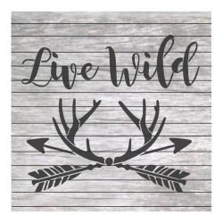 Live wild painting stencil...