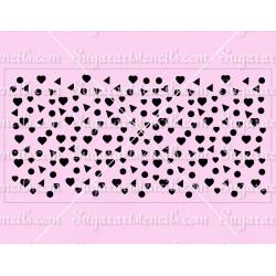 Confetti cake stencil SL08