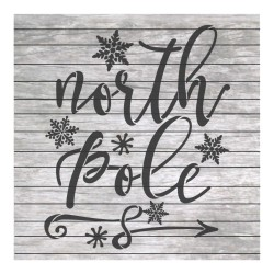 North Pole painting stencil...