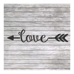 Love word painting stencil...