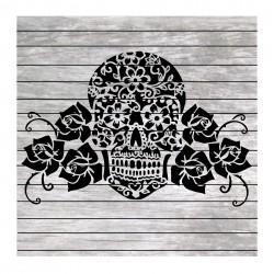 Lace Sugar skull and roses...