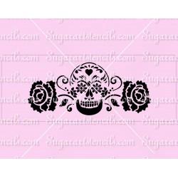 Sugar skull cake stencil...