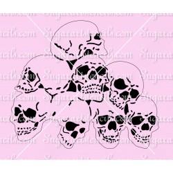 Stacked Skulls cake stencil...
