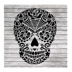 Sugar skull and roses...