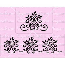Floral roses cake stencils...