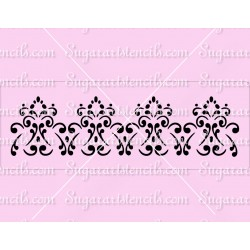 Fancy cake stencil SL20235