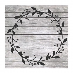 Wreath painting stencil MM032
