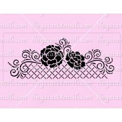 Floral lattice cake stencil...