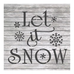 Let it snow painting...