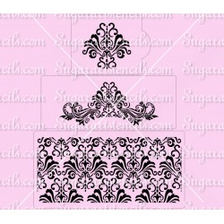 Damask cake stencils set of...