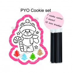 Christmas bear PYO cookie...