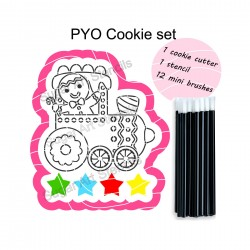 Christmas Train PYO cookie...