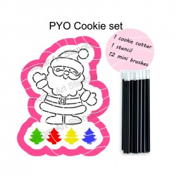Christmas Santa PYO cookie...