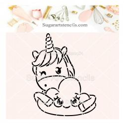 Unicorn PYO cookie Stencil SV2