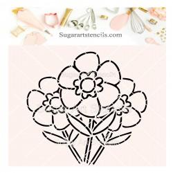 Flowers PYO cookie Stencil SV3