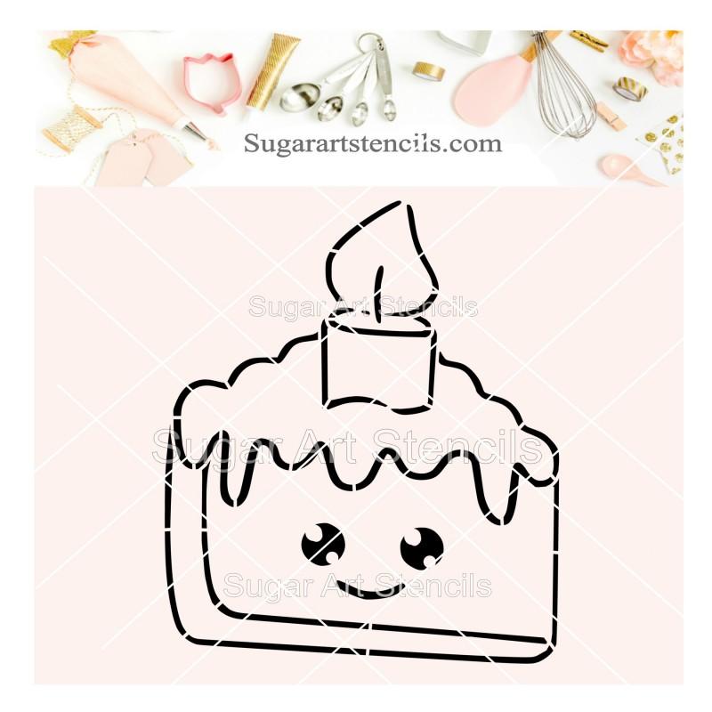 Enjoyable Birthday Cake Pyo Cookie Stencil Sv10 Personalised Birthday Cards Vishlily Jamesorg