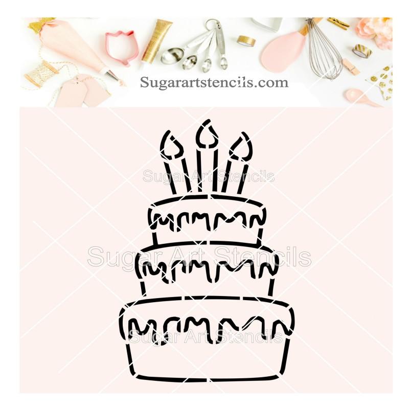 Groovy Birthday Cake Pyo Cookie Stencil Sv12 Personalised Birthday Cards Vishlily Jamesorg