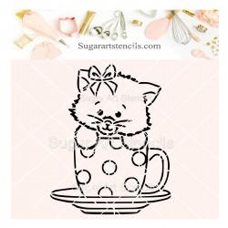 Cat in a mug PYO cookie...
