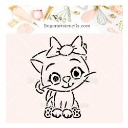 Cute cat PYO cookie Stencil...