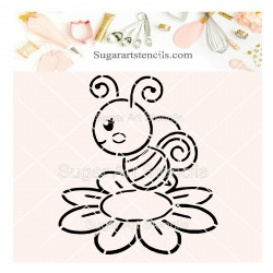 Bee on a flower PYO cookie...