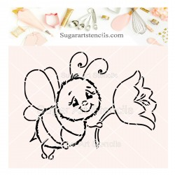 Bee holding a flower PYO...