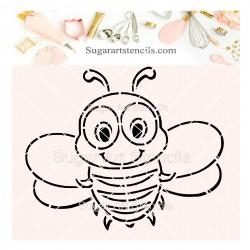 Bee PYO cookie Stencil SV22