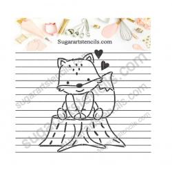 Fox PYO cookie stencil...